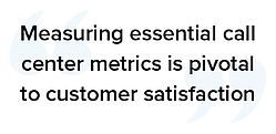 Measuring essential call center metrics is pivotal to customer satisfaction quote