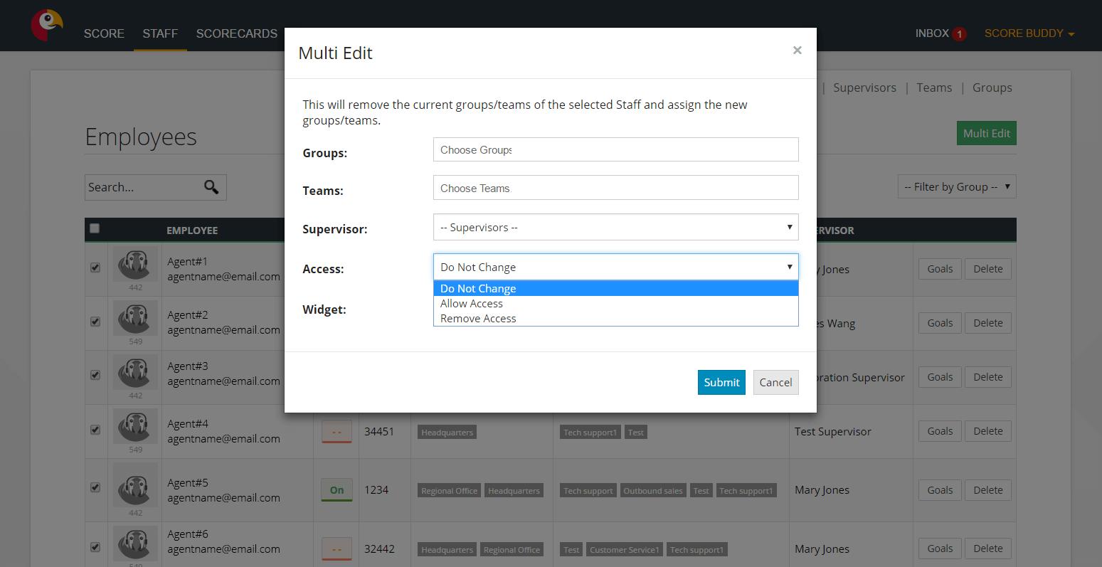 Multi edit feature