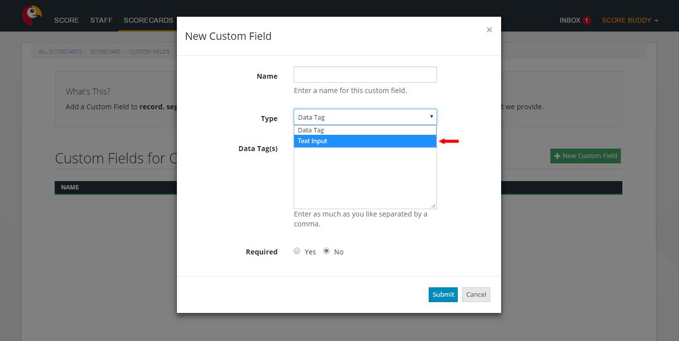 Introducing a new custom field type - Text Input